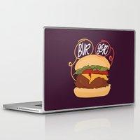 burger Laptop & iPad Skins featuring Burger! by Chelsea Herrick