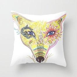 Coywolf Alebrije Throw Pillow