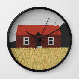 Little Red House Wall Clock