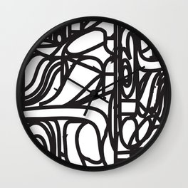 Stained Glass Patter (Black outlines) Wall Clock
