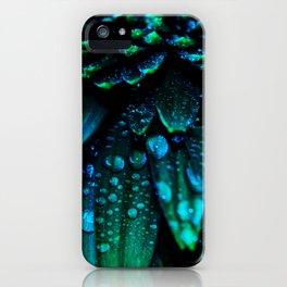 flower - midnight blue iPhone Case