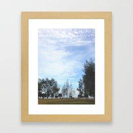 Grainy Islet Sky Framed Art Print
