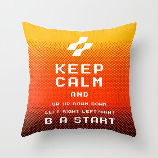 keep calm konami. Throw Pillow