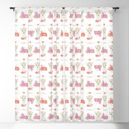 Floral Bust of a Llama Blackout Curtain