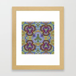 Passion Petals Retro Groovy Kaleidescope Psychedelica Print Framed Art Print