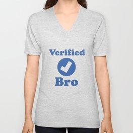 Verified BRO. Unisex V-Neck