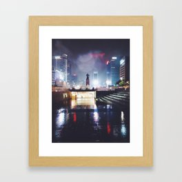 Rainy Nights in Seoul Framed Art Print