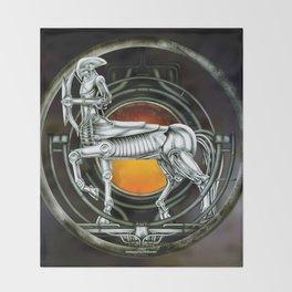 """Astrological Mechanism - Sagittarius"" Throw Blanket"