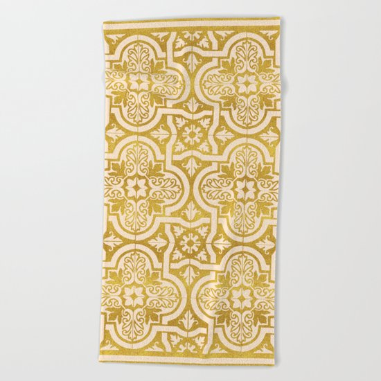 Moroccan Gold || #society6 #decor #buyart Beach Towel