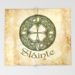 Slainte or To Your Health Throw Blanket