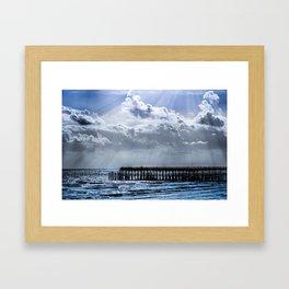 Ocean Pier Sky Framed Art Print