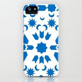 Blue Arabesque iPhone Case