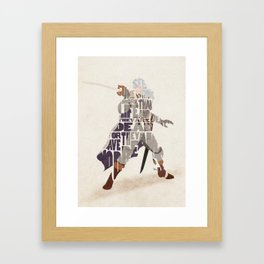 The White Falcon Framed Art Print