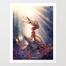 Dreaming on the Reef Art Print