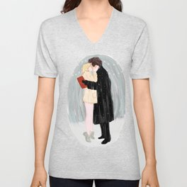 Bridget Jones Kiss Unisex V-Neck