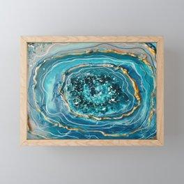 BLUE CRYSTAL RESIN Framed Mini Art Print