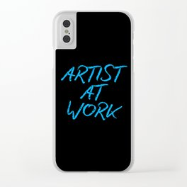 Artist at Work (blue) Clear iPhone Case