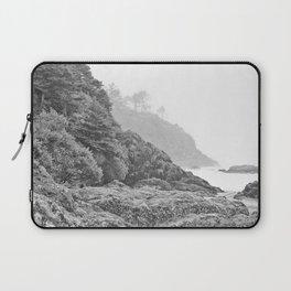 Washington Coast Mist Fog Shoreline Beach Pacific Ocean Long Beach Beards Hollow Forest Northwest Laptop Sleeve