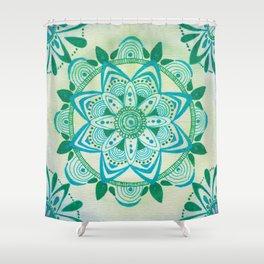 Simpe Blue/Green Mandala Shower Curtain