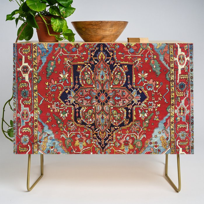 Heriz  Antique Persian Rug Print Credenza