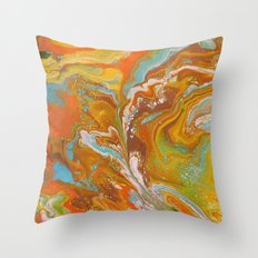 Orange Fizz Throw Pillow