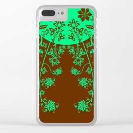 floral ornaments pattern vop120 Clear iPhone Case