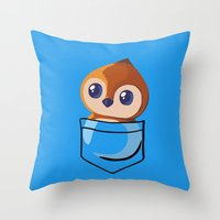 warcraft Throw Pillows featuring Pepe! by SlothgirlArt