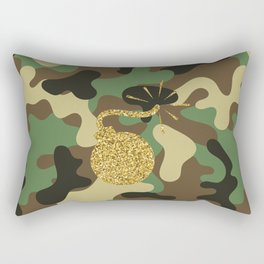 CAMO & GOLD GLITTER BOMB DIGGITY Rectangular Pillow