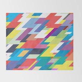Layers Triangle Geometric Pattern Throw Blanket