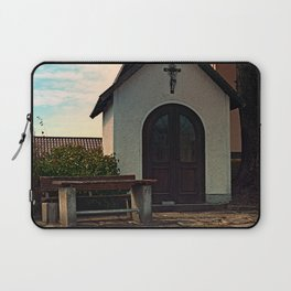 Taking a rest at the chapel Laptop Sleeve