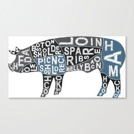 Cuts of Pork Canvas Print