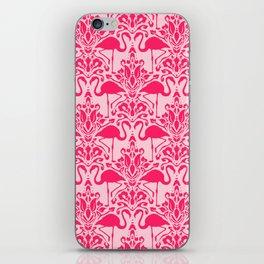 Flamingo Damask iPhone Skin