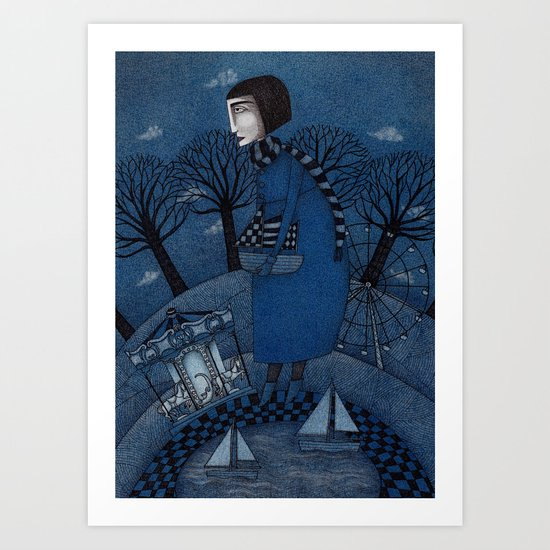 December Park (1) Art Print