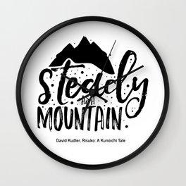 Steady as a mountain Wall Clock
