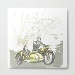 Vintage Hockenheim Motorbike Ad Metal Print