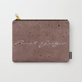 Pinot Grigio Wine Red Travertine - Rustic - Rustic Glam - Hygge Carry-All Pouch