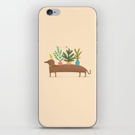 Dachshund & Parrot iPhone Skin