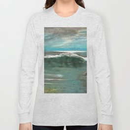 Making Waves On Driftwood Long Sleeve T-shirt