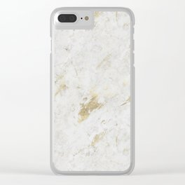 Wind Washed Marble Gold Mine Clear iPhone Case