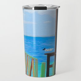 Lookout along Grand Case Beach Travel Mug