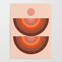 Abstraction_SUN_Rainbow_Minimalism_001 Poster