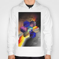 hexagon Hoodies featuring hexagon II by donphil