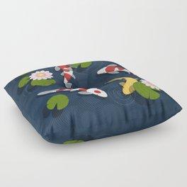 Japanese Koi Fish Pond Floor Pillow