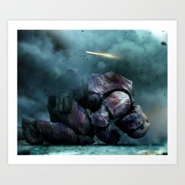 BUFFALO REIGNS Art Print