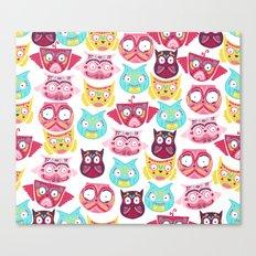Ornate Owls Canvas Print