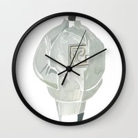 men Wall Clocks featuring MeN!) by Art Pass