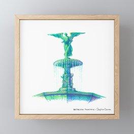 NYC Pride: Bethesda Fountain Framed Mini Art Print