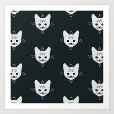 Cats!White Art Print