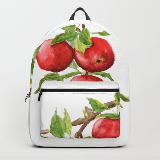 red apple Backpack