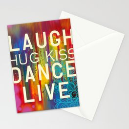 Laugh, Dance, Live Stationery Cards